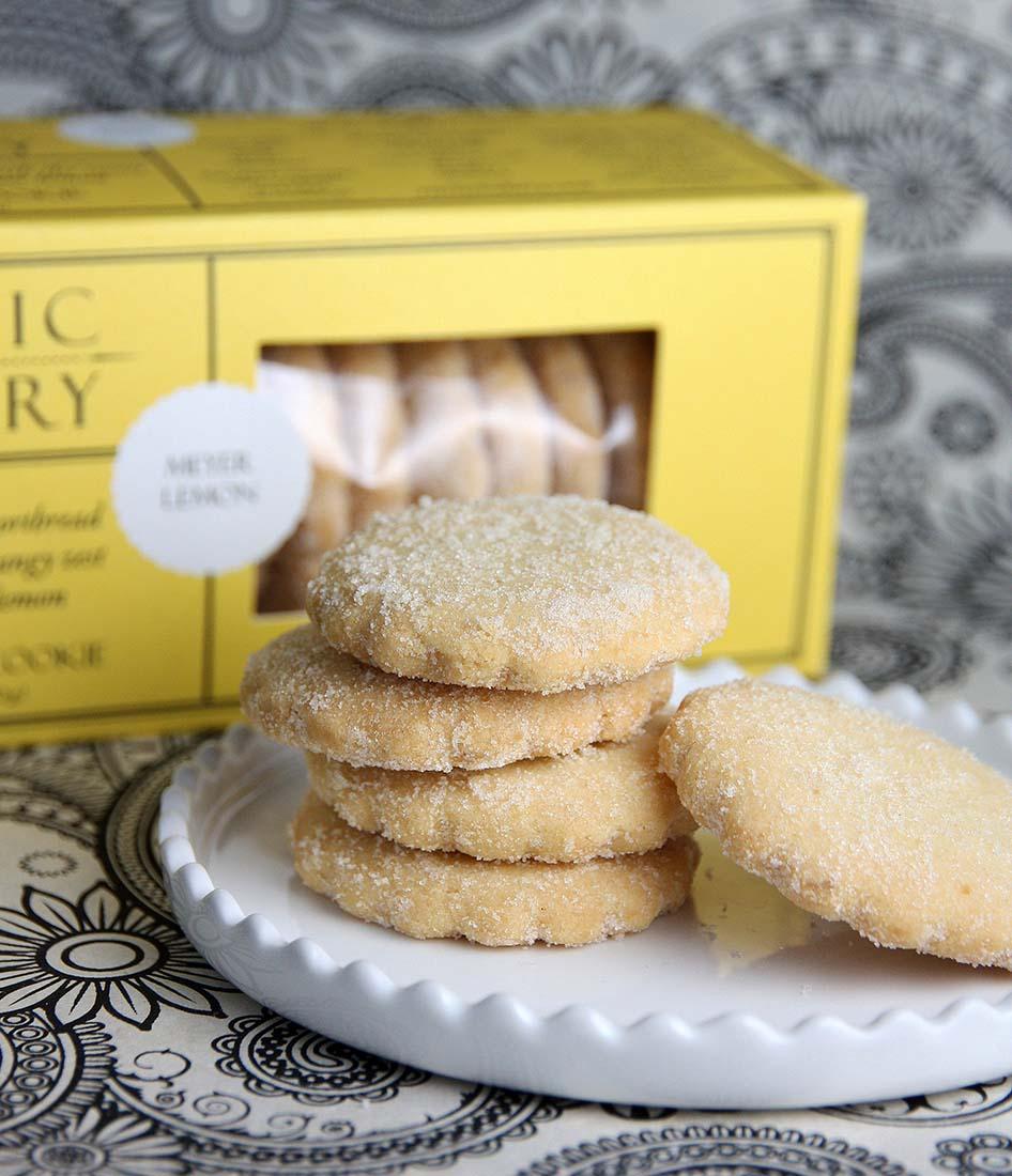 Meyer Lemon Sugar Shortbread Cookie